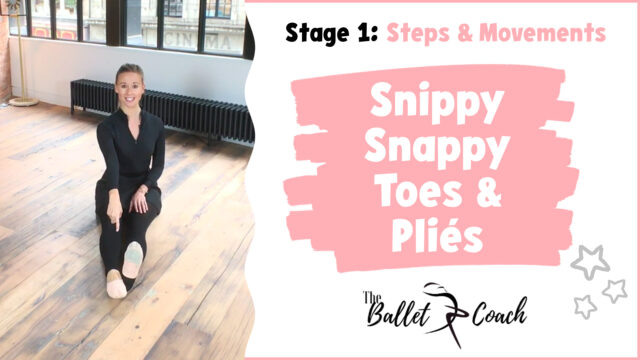 Stage 1 Snippy Snappy Toes & Pliés